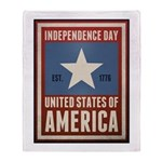 Independence Day Throw Blanket