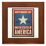 Independence Day Framed Tile