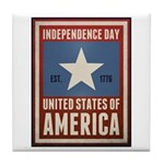 Independence Day Tile Coaster