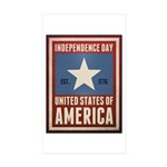 Independence Day Sticker (Rectangle 10 pk)
