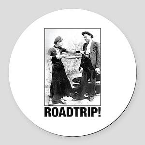ROADTRIP! Round Car Magnet