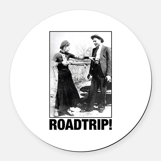 ROADTRIP! Round Car Magnet