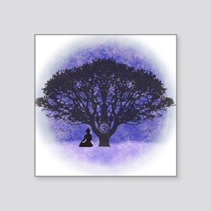 Buddha Beneath the Bodhi Tree-Light Background Squ