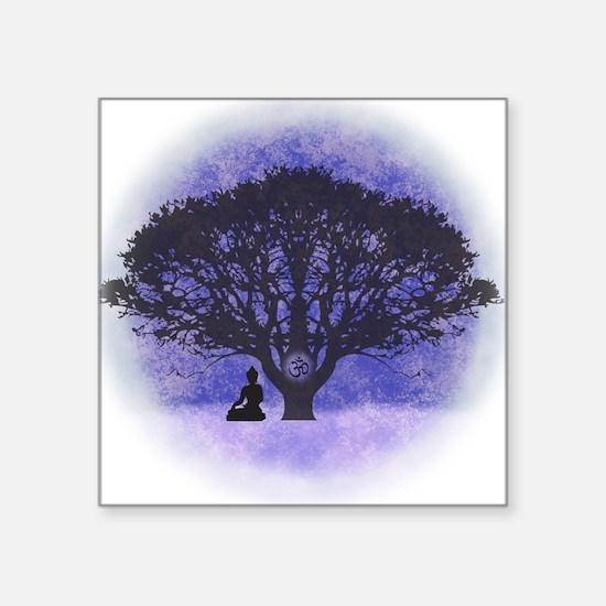 Buddha Beneath the Bodhi Tree-Light Background Squ
