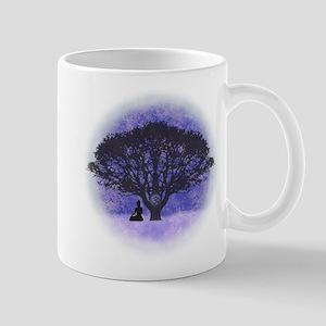 Buddha Beneath the Bodhi Tree-Light Background Mug
