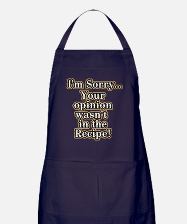 Funny recipe apron or shirt for the kitchen Apron