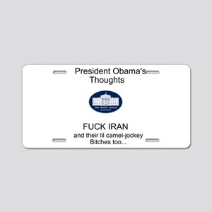 Presidential Thoughts Aluminum License Plate