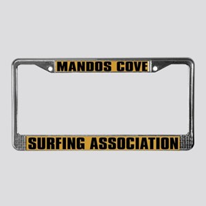 Mandos Cove Surfing License Plate Frame