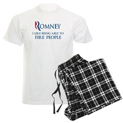Anti-Romney: Fire People Men's Light Pajamas