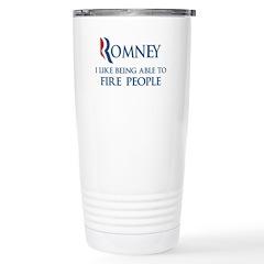 Anti-Romney: Fire People Stainless Steel Travel Mu