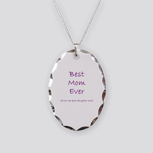 Best Mom Ever Necklace Oval Charm