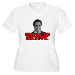 Anti-Romney: Unfit To Serve Women's Plus Size V-Ne