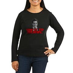 Anti-Romney: Unfit To Serve Women's Long Sleeve Da