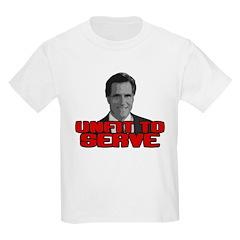 Anti-Romney: Unfit To Serve Kids Light T-Shirt