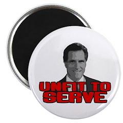 Anti-Romney: Unfit To Serve Magnet