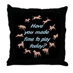 Time To Play Throw Pillow