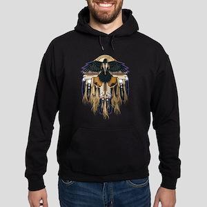 Native Crow Mandala Hoodie (dark)