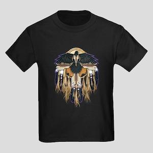Native Crow Mandala Kids Dark T-Shirt