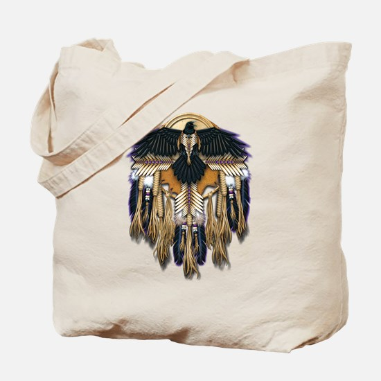 Native Crow Mandala Tote Bag