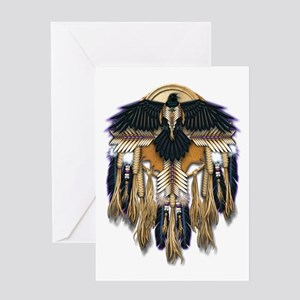 Native Crow Mandala Greeting Card