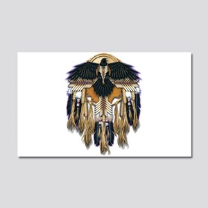Native Crow Mandala Car Magnet 20 x 12