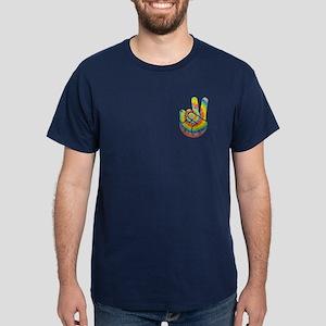 Tie-Dye Peace Hand Dark T-Shirt