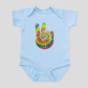 Tie-Dye Peace Hand Infant Bodysuit