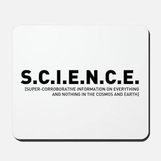 S.C.I.E.N.C.E. in Black Mousepad