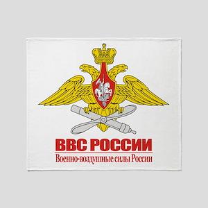 Russian Air Force Emblem Throw Blanket