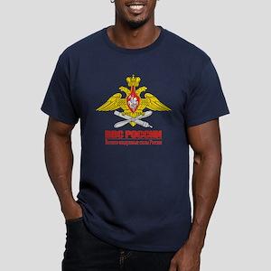 Russian Air Force Emblem Men's Fitted T-Shirt (dar