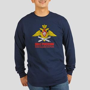 Russian Air Force Emblem Long Sleeve Dark T-Shirt
