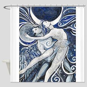 Star Carries Moon Shower Curtain