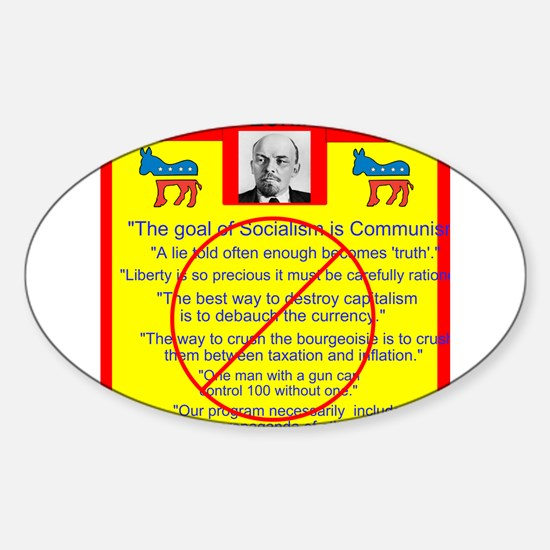 Lenin quotes Sticker (Oval)
