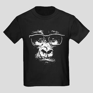 Glasses Gorilla Kids Dark T-Shirt