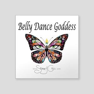 Shimmy Chic Belly dance Goddess Square Sticker 3&a