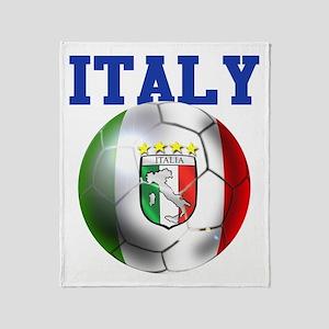 Italy Soccer Ball Throw Blanket
