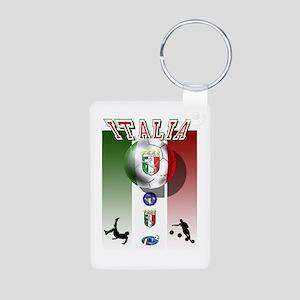 Italia Italian Football Aluminum Photo Keychain