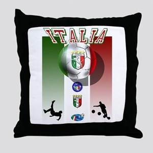 Italia Italian Football Throw Pillow