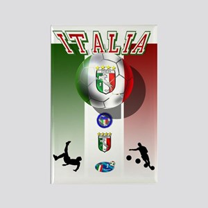 Italia Italian Football Rectangle Magnet