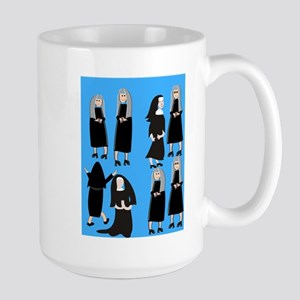 ff nuns 2 blue Large Mug