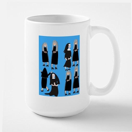 ff nuns 2 blue.PNG Large Mug