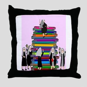 ff nuns 3 Throw Pillow