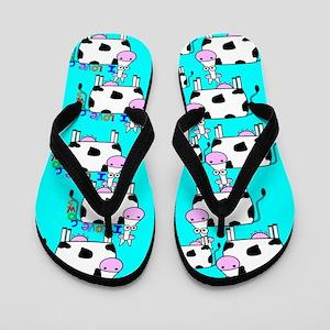 ff cows Flip Flops