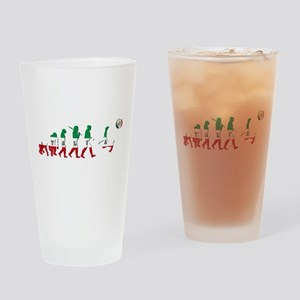 Evolution of Italian Football Drinking Glass