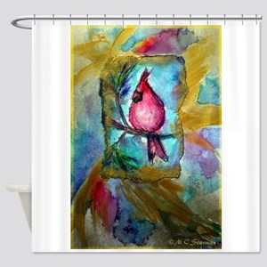 Cardinal, red bird art! Shower Curtain