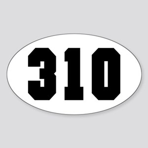 """310"" Oval Sticker"