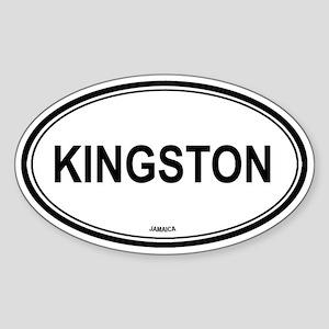Kingston, Jamaica euro Oval Sticker