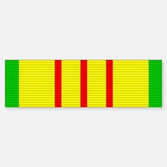 Vietnam Service Medal Sticker (Bumper)