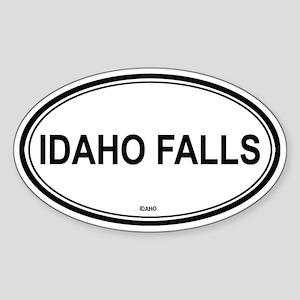 Idaho Falls (Idaho) Oval Sticker