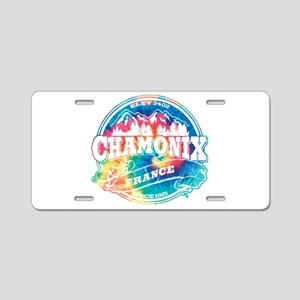 Chamonix Old Circle Aluminum License Plate